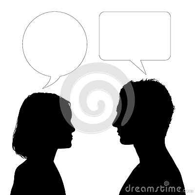 Father and daughter face to face dialogue