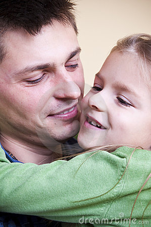 Father daughter portrait