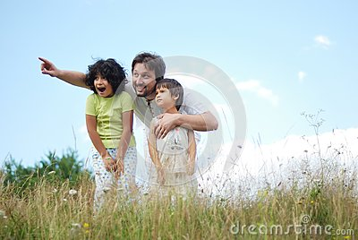 Father, Daughter And Son Royalty Free Stock Image - Image: 10321676