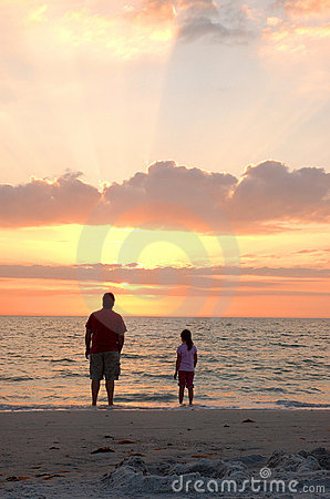 Father and Daughter sunset