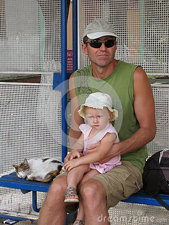 Father and daughter travel