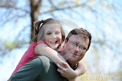 Father and Daugther Having Fun