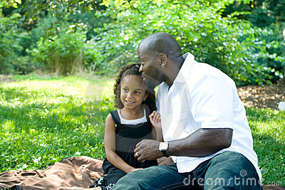 A father and his mixed race daughter