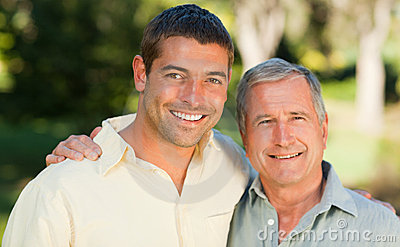 Father with his son looking at the camera