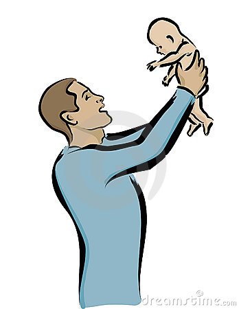 Father Holding Baby Royalty Free Stock Images - Image: 5922089