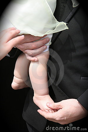 Father holding Infant Child