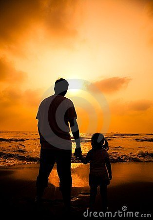 father holding little girl s hand