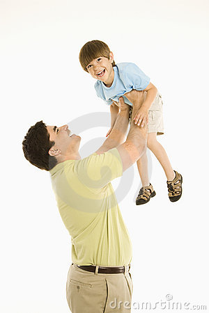 Free Father Holding Son. Royalty Free Stock Images - 2771469