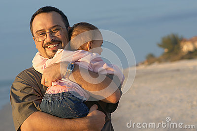 Fathers Day - Father Hugging Baby