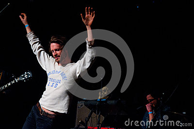 Father John Misty band performs at Music Hall Editorial Photography