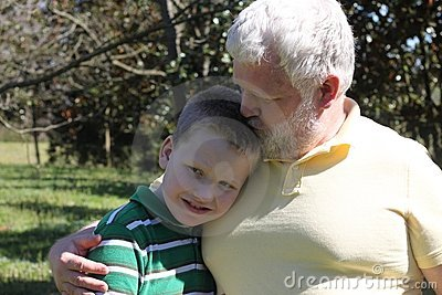 Father Kissing His Autistic Son