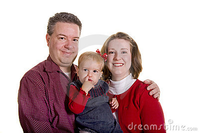 Father and Mother with Baby Finger in Nose