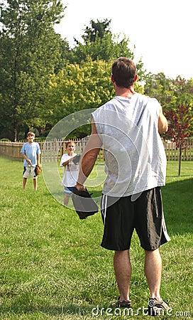 Free Father Playing Baseball Stock Photos - 1243323