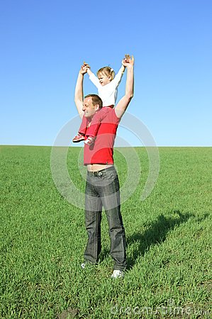 Father plays with daughter