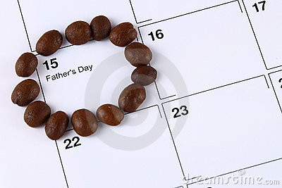 Beans marking Father s Day on calendar