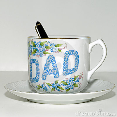 Free Father S Day Tea Cup Square Royalty Free Stock Photos - 4592548