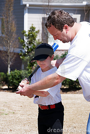 Father and son/baseball lesson