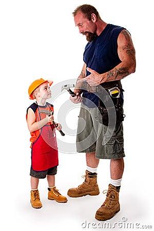 Father and son carpenter