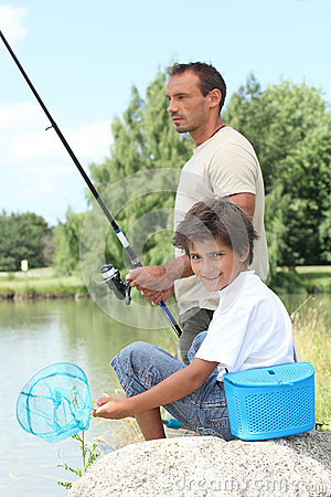Father and son fishing royalty free clip art image pictures for Father son fishing