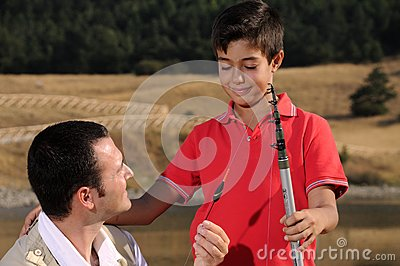 Father with son and free time