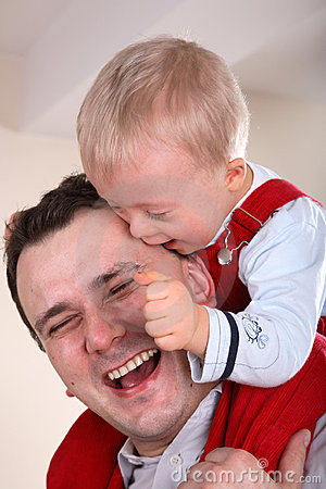 Father And Son Portrait Royalty Free Stock Image - Image: 4298906
