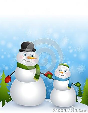 Father Son Snowmen