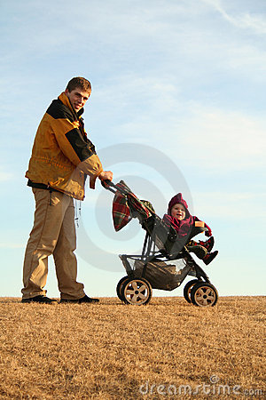 Father with stroller