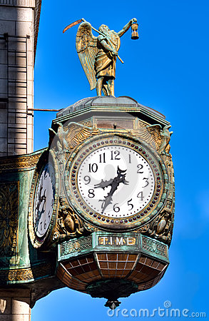 Father Time Clock Chicago Royalty Free Stock Photos