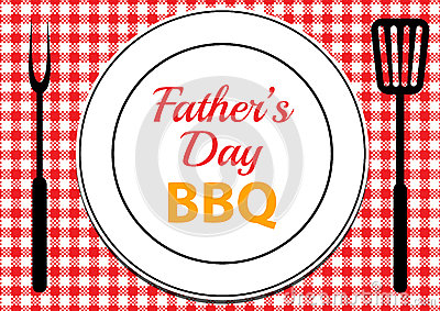 Fathers Day Bbq Stock Vector Image 72997961