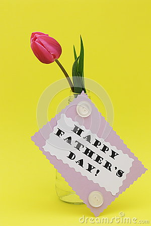 Fathers day greeting card with Happy father day te