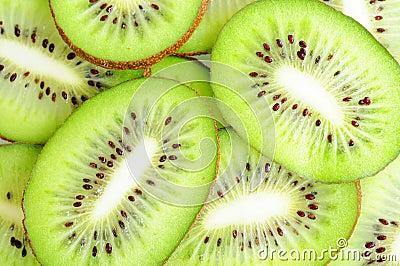 Fatias de frutas de quivi
