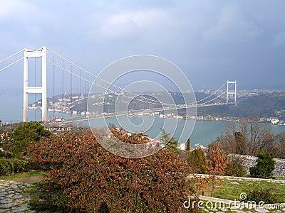 Fatih bridge over Bosporus