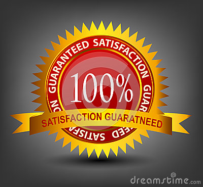 Fatisfaction guaranteed label vector illustration