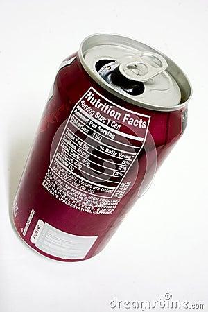 Fatos da nutrição da soda