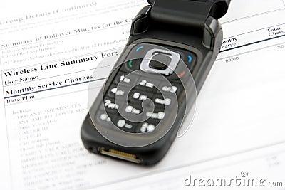 Fattura di telefono delle cellule
