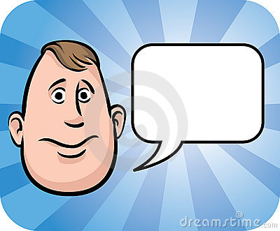 Fatty face with speech bubble