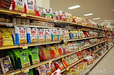 Fatty Snacks in the Supermarket Editorial Image