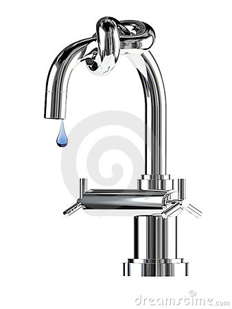 Faucet with knot