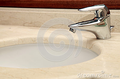 Faucet and marble sink