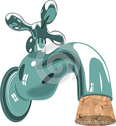 Faucet tap water sink plumbing cork