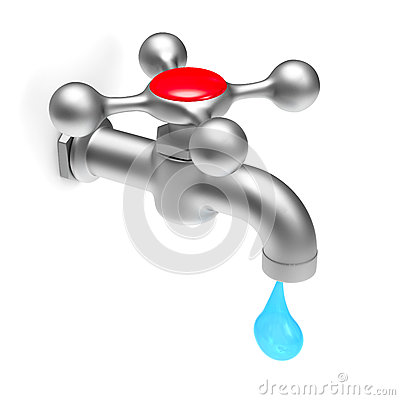 Faucet on white background Stock Photo