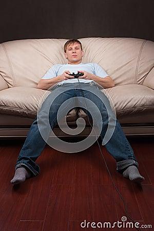 Faules gamer