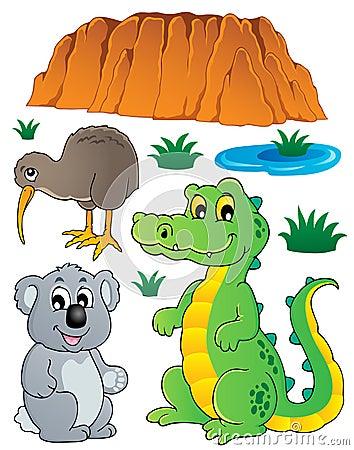 A fauna australiana dos animais selvagens ajustou 3