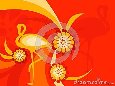 Faune de flore de flamant