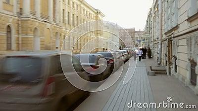 Faute hyper Rues de St Petersburg de la première personne banque de vidéos
