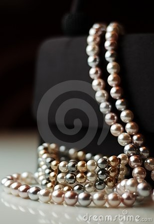Faux Pearls on Evening Bag