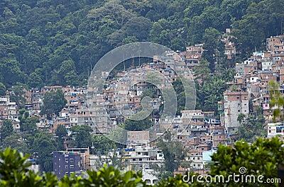 Favela Slums in Rio de Janerio, Brazil