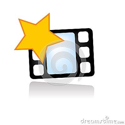 Free Favorite Movie Video Icon Royalty Free Stock Photo - 7497545