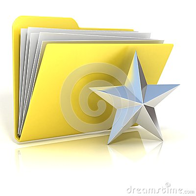 Free Favorites, Star Folder Icon Royalty Free Stock Images - 56552429