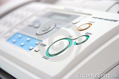Fax machine closeup